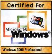 Certified for Windows 2000 Professional.